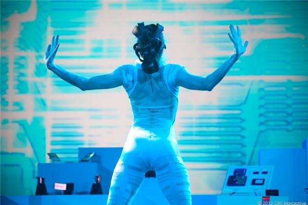 A dancer at Samsung's closing CES keynote today.
