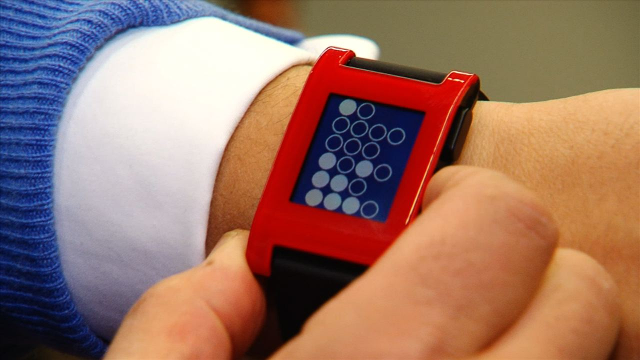 Pebble watch is smart, stylish