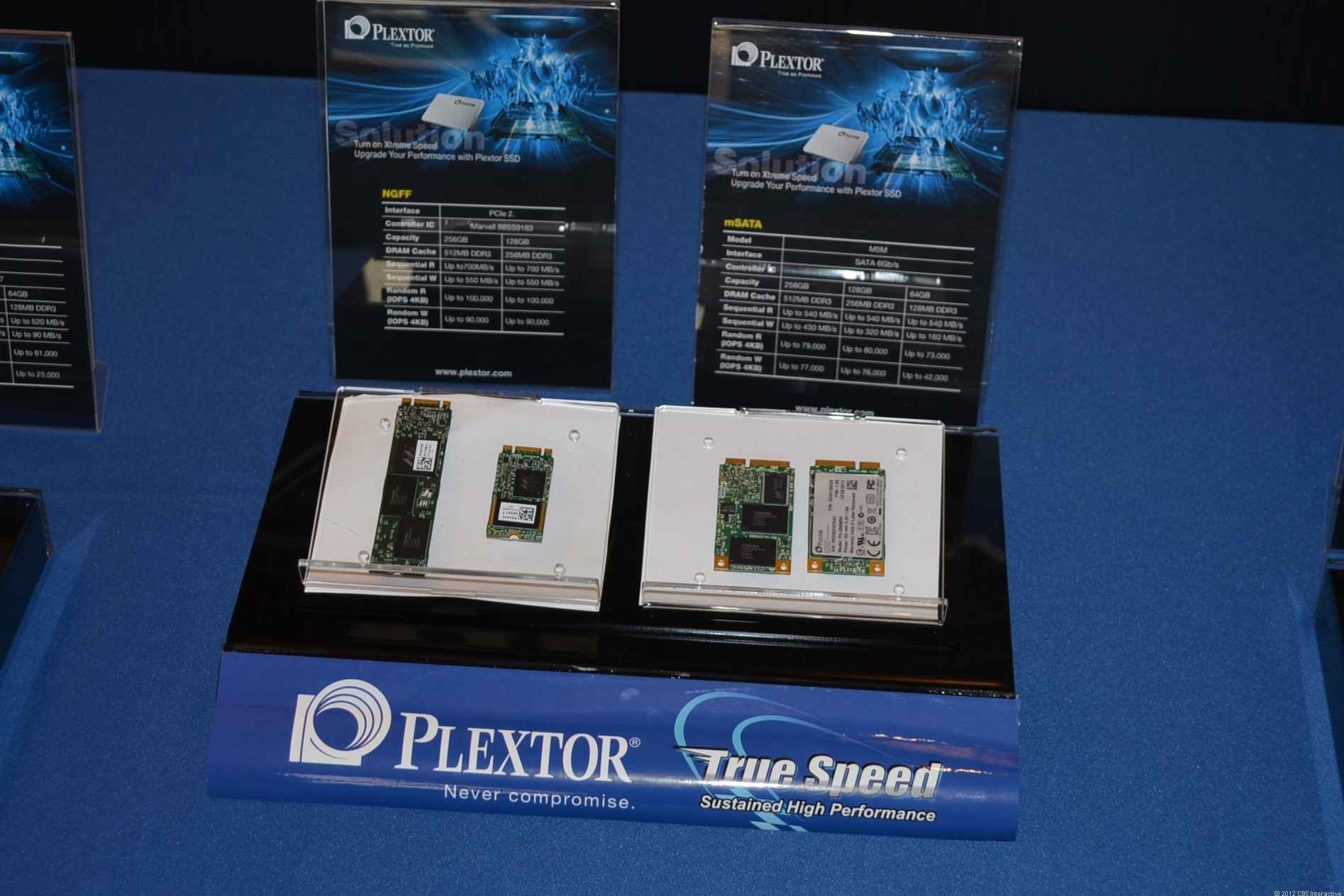 The new M5M mSATA SSDs from Plextor.