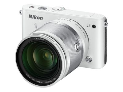 Nikon 1 J3 (with 10-100mm Lens, White)