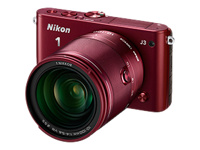 Nikon 1 J3 (with 10-100mm Lens, Red)