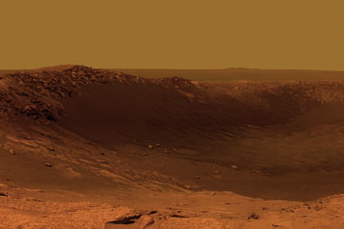 Color panorama of Santa Maria crater