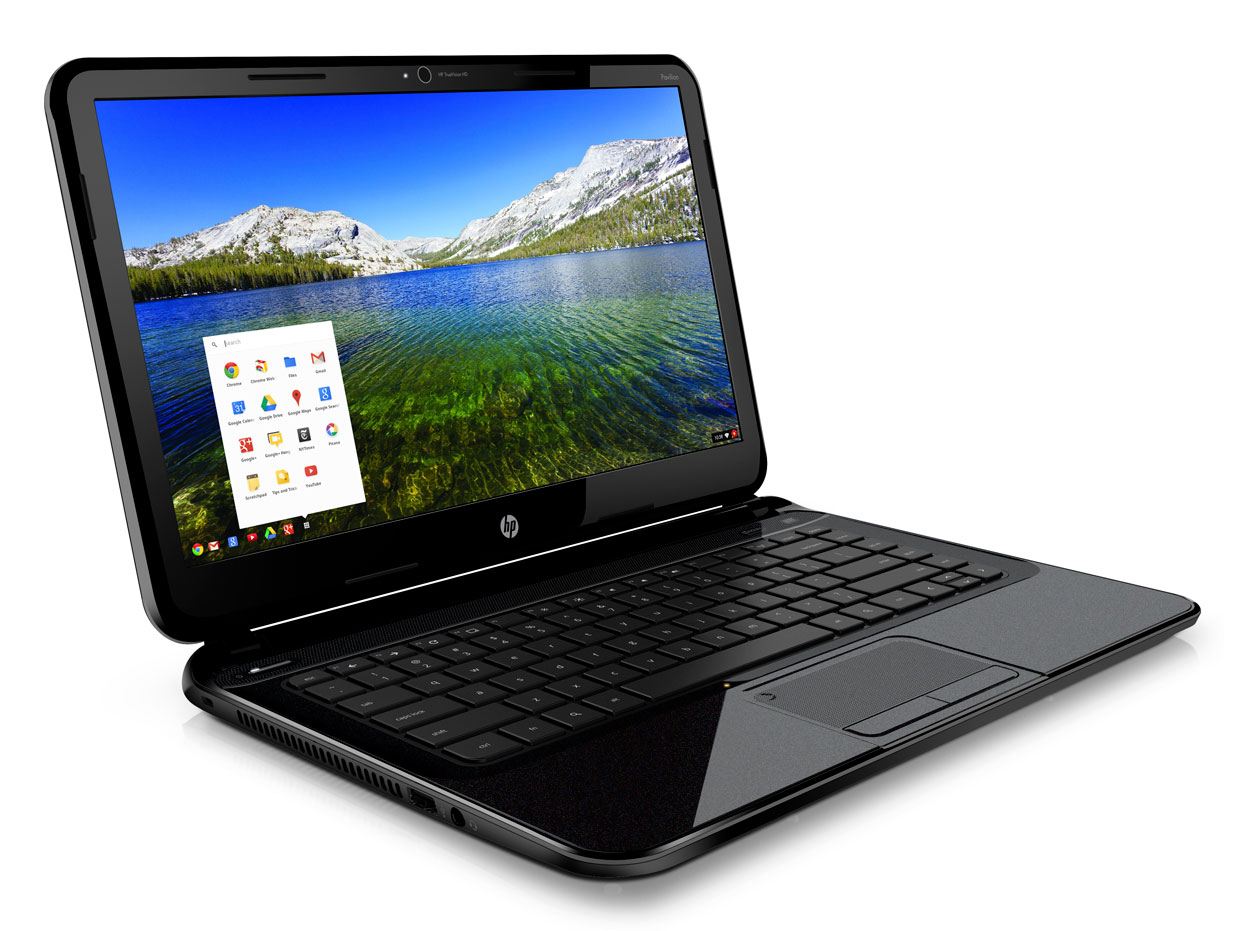 HP's Pavilion 14 Chromebook is a $330, 4-pound laptop that uses Google's browser-based Chrome OS.