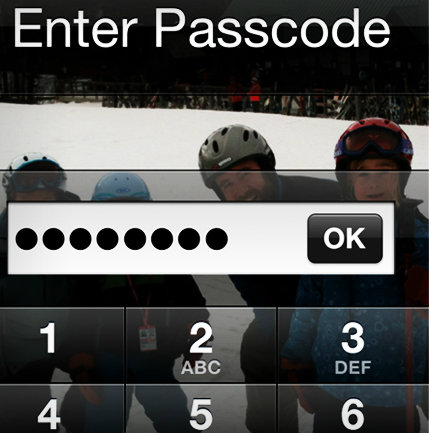 Enter Passcode on iPhone