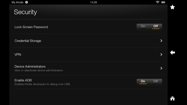 Kindle Fire HD security