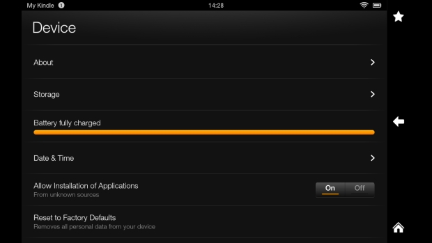 Kindle Fire HD allow installation