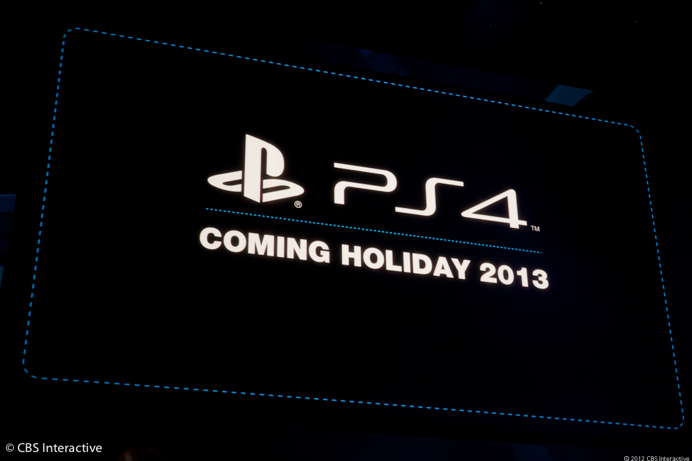 PS4 announcement screen