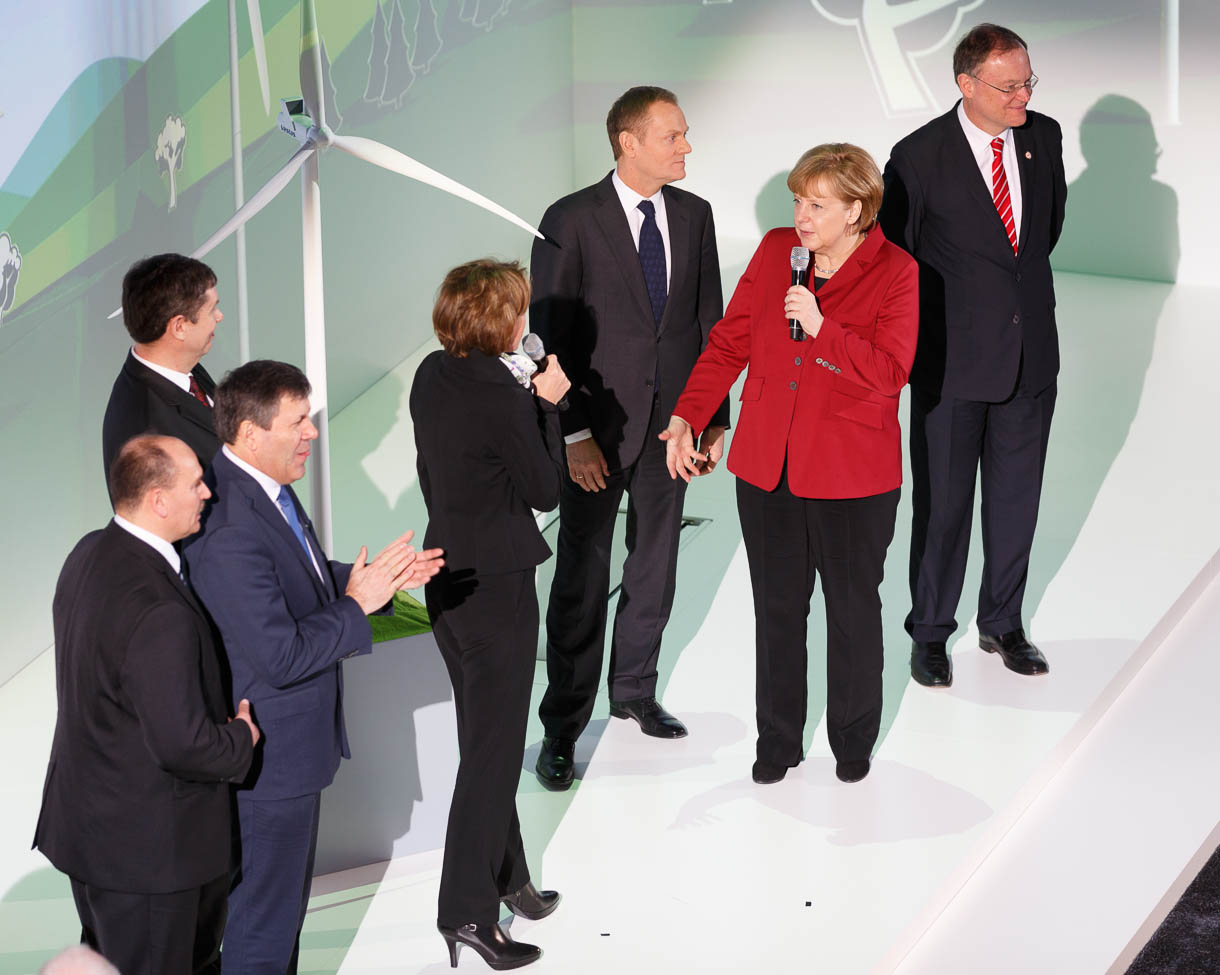 Angela Merkel at IBM