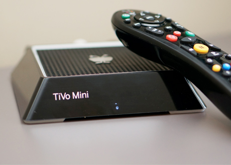 The TiVo Mini is a DVR extender letting TiVo Premiere 4 and XL4 users stream content to additional rooms without the need to buy more TiVo DVRs.