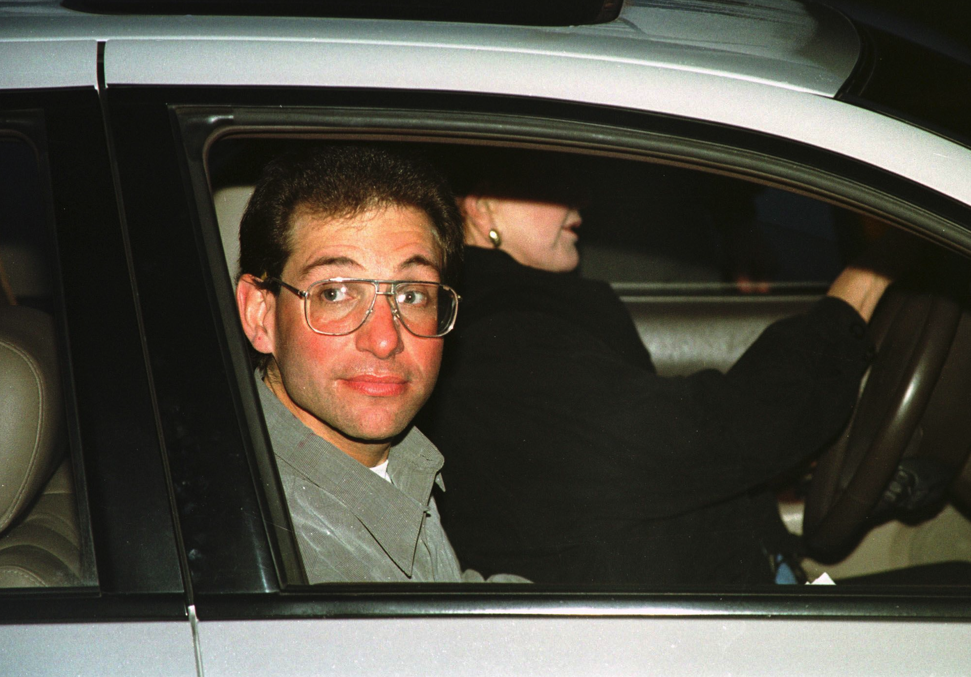 Kevin Mitnick after being released from the Federal Correctional Institution in Lompoc, Calif.,  in 2000