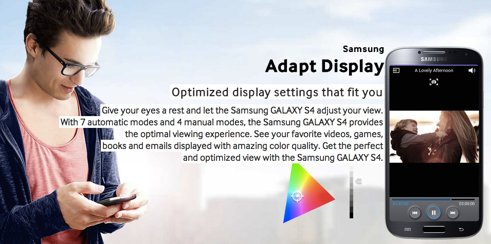 Samsung Galaxy S4 adapt display options