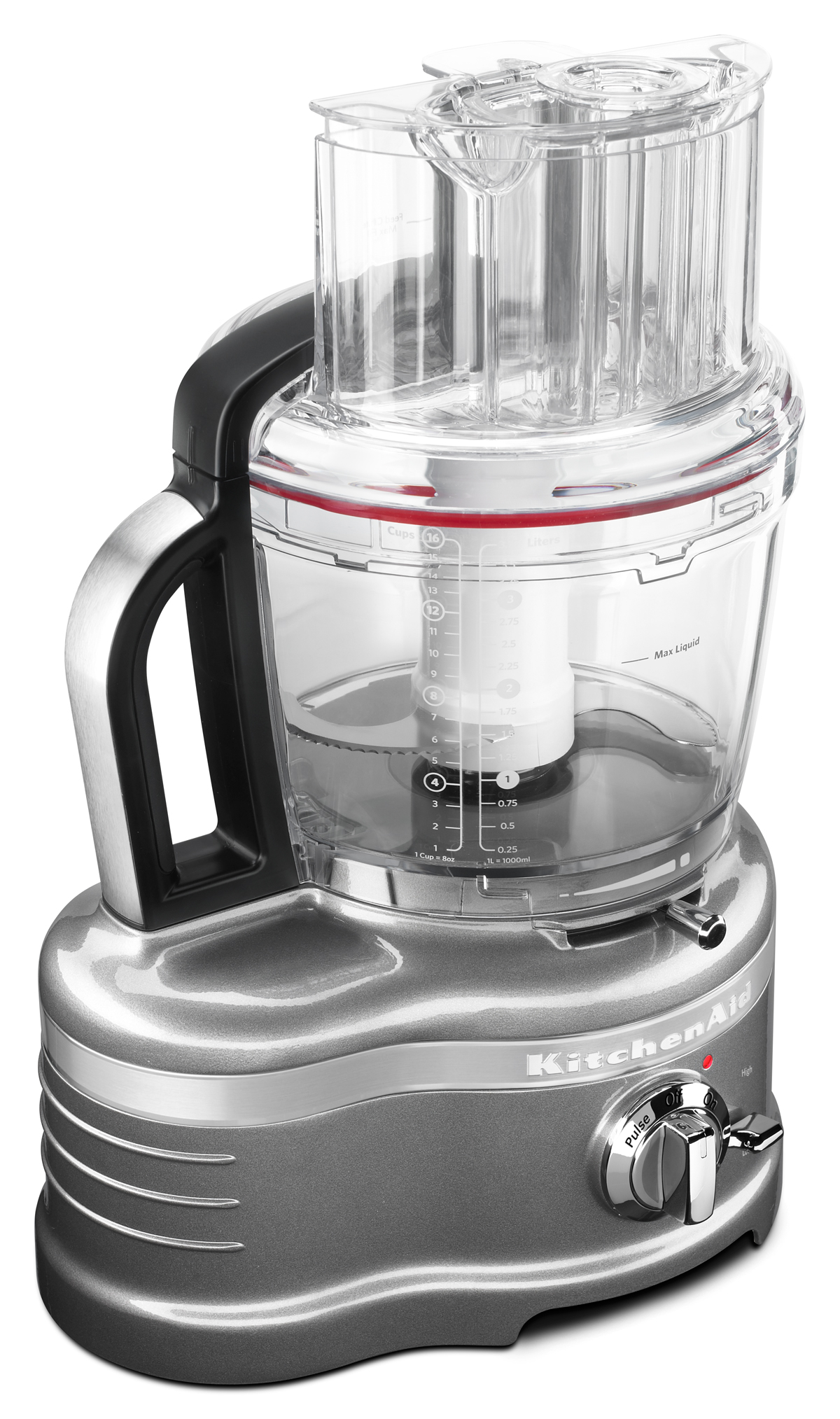 The KitchenAid Pro Line 16-Cup Food Processor slices and dices.