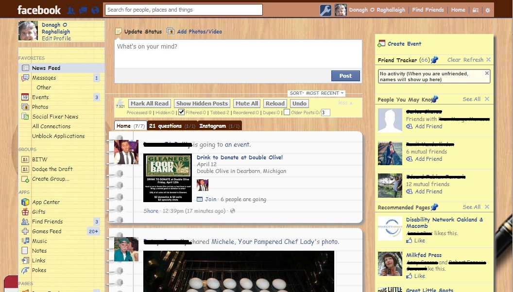 Social Fixer desktop theme for Facebook