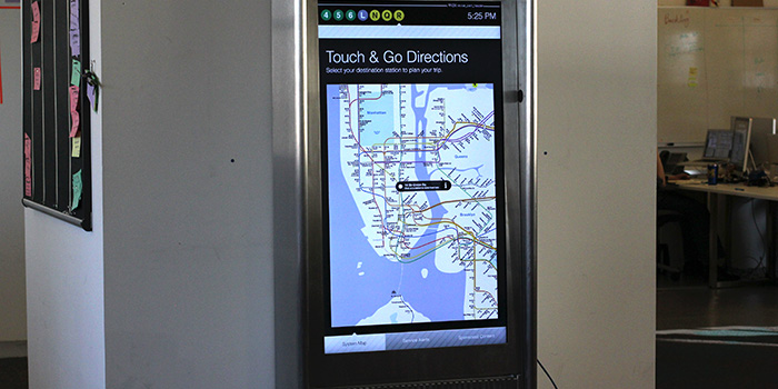 Subway kiosk as navigational aid