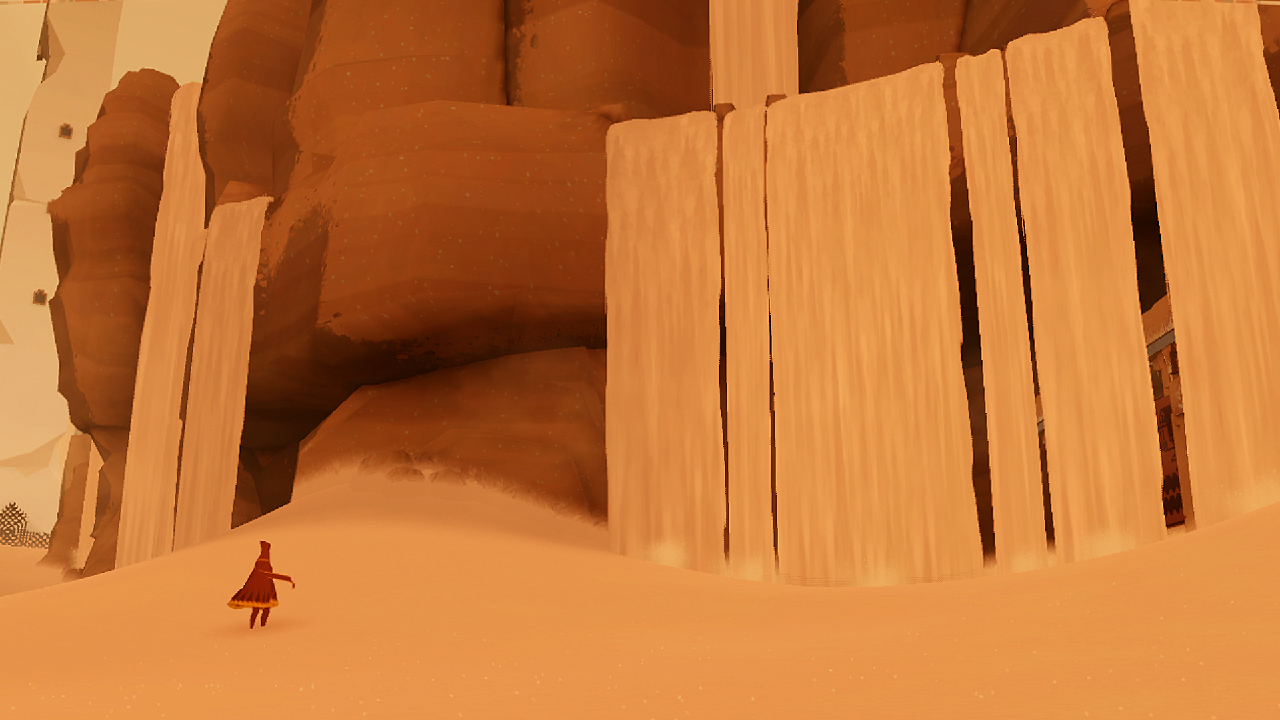 The sand in Journey.
