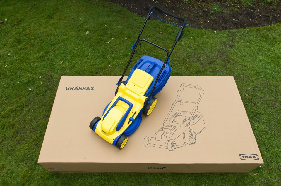 Ikea's foldable lawn mower