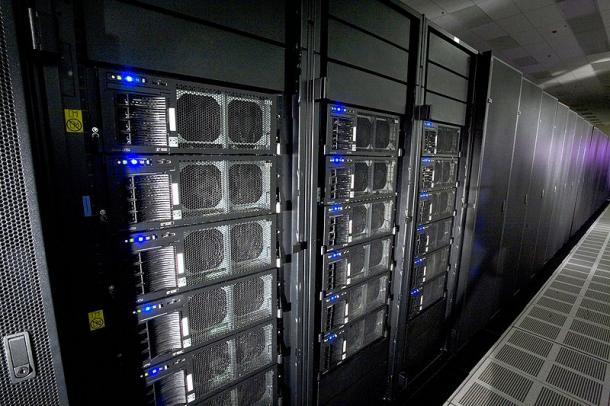 The Roadrunner supercomputer at Los Alamos National Laboratory.