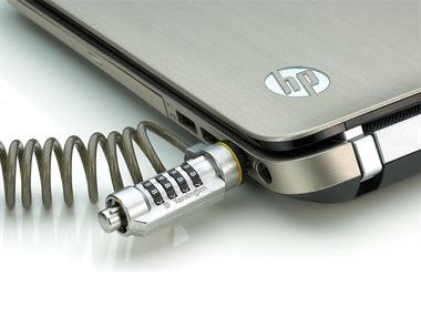 The Kensington ComboSaver Combination Portable laptop lock.