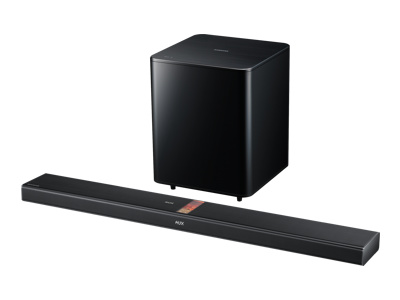 Samsung HW-F750 - sound bar system - For home theater - wireless, wired