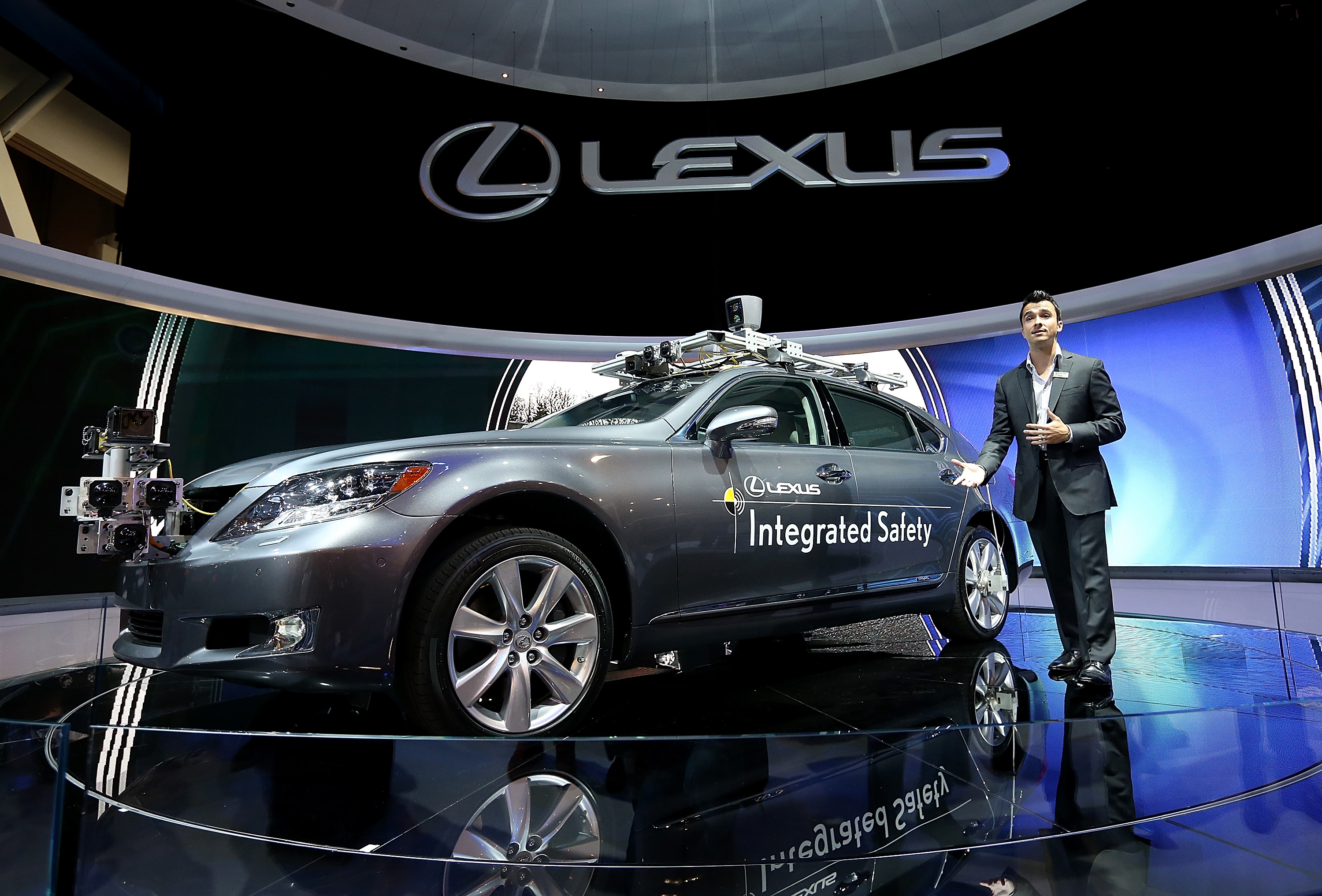 Lexus LS Integrated Safety self-driving car