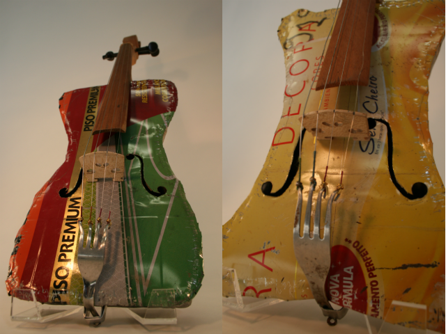 Recycled Orchestra instruments