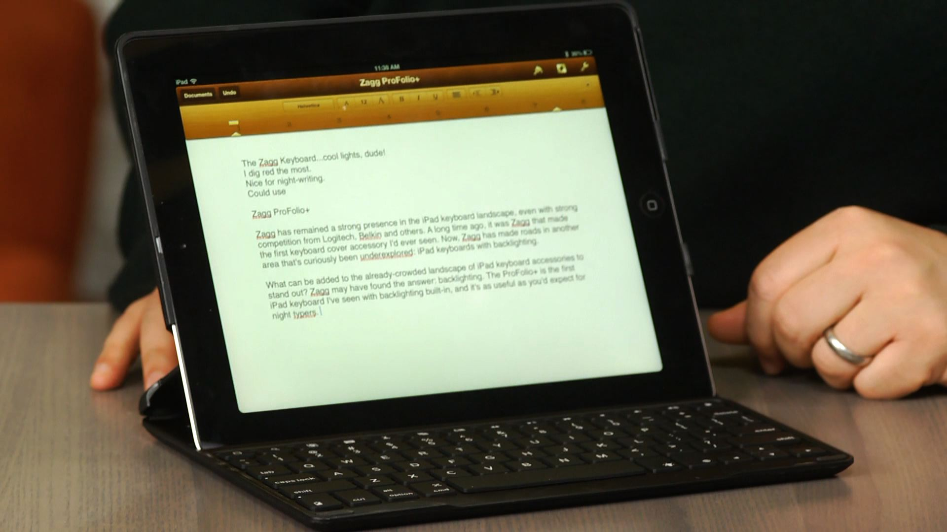 Video: ZaggKeys ProFolio+ for iPad: backlit keyboard case lights it up