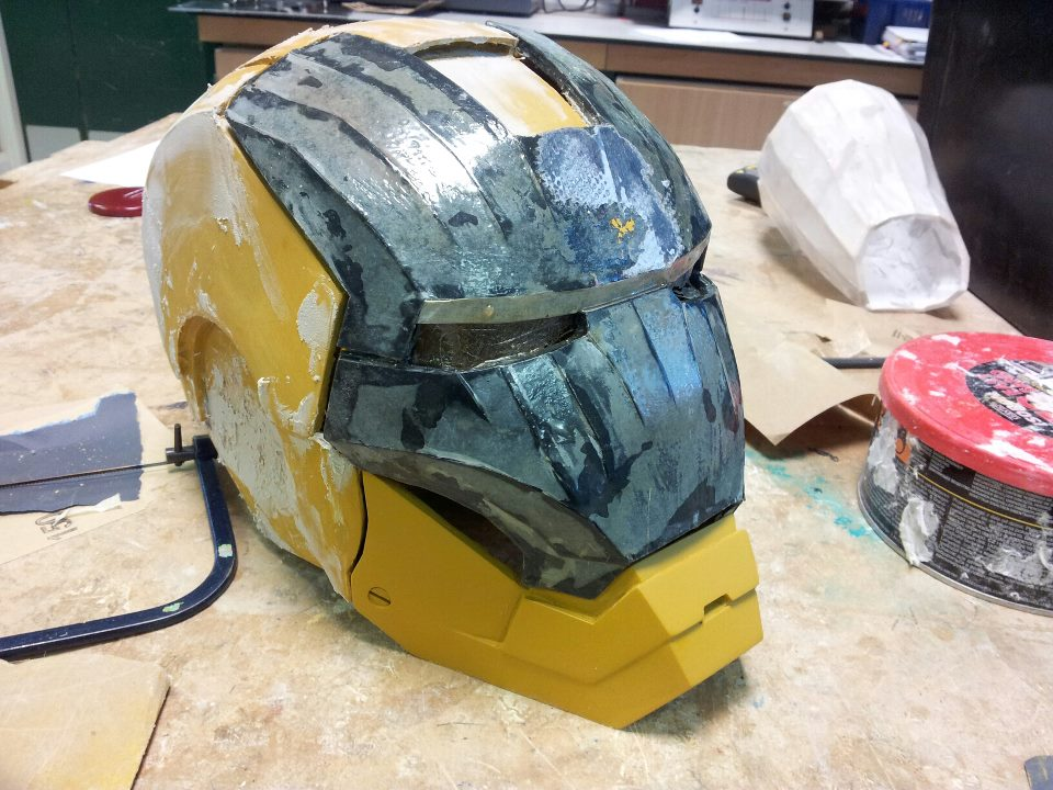 Iron Man helmet in process