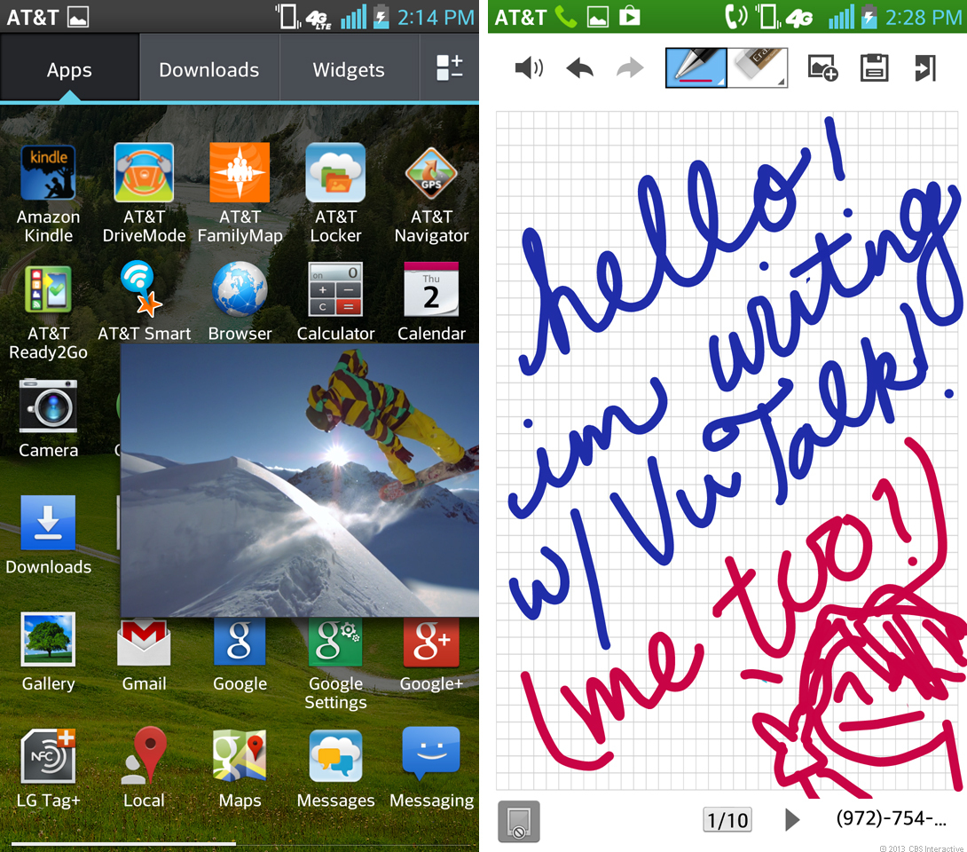 LG Optimus G Pro (QSlide and VuTalk)
