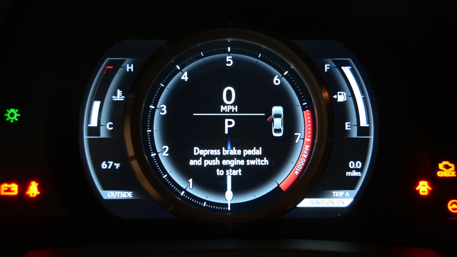 Video: 2014 Lexus IS F-Sport's gorgeous gauges