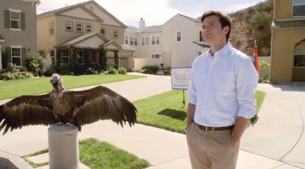 "Jason Bateman and a friend in a promo clip for Netflix's new season of ""Arrested Development."""
