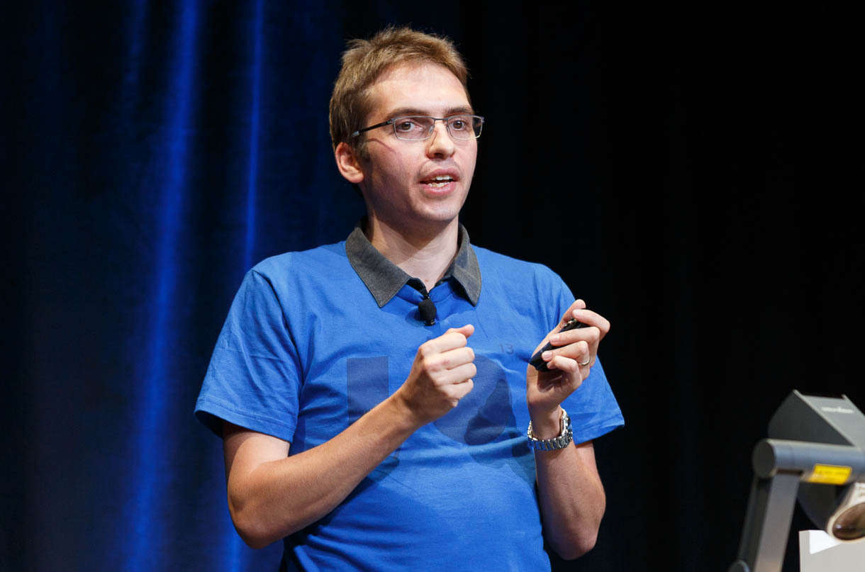 VP9 engineer Ronald Bultje speaking at Google I/O 2013.