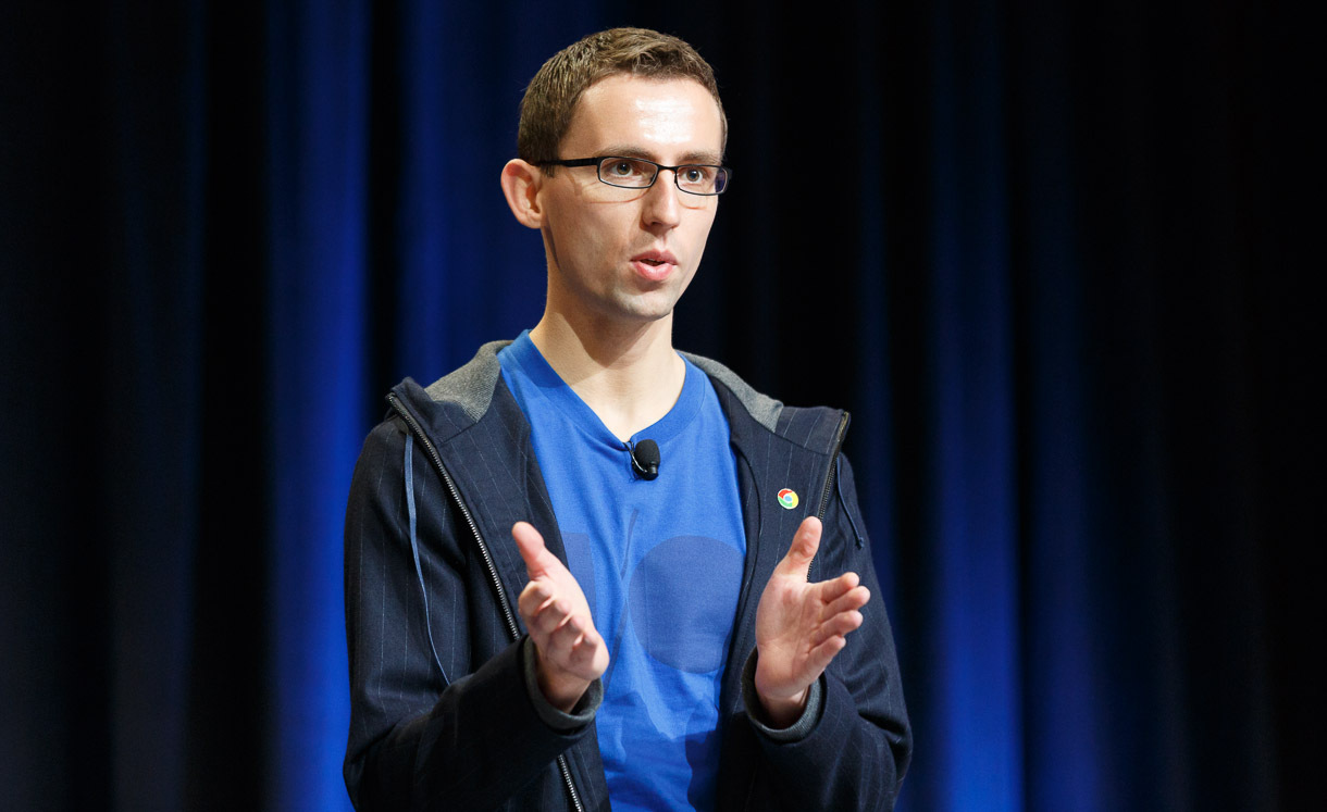 Ilya Grigorik, a member of Google's Make the Web Faster team, touts the advantages of WebP at Google I/O 2013.