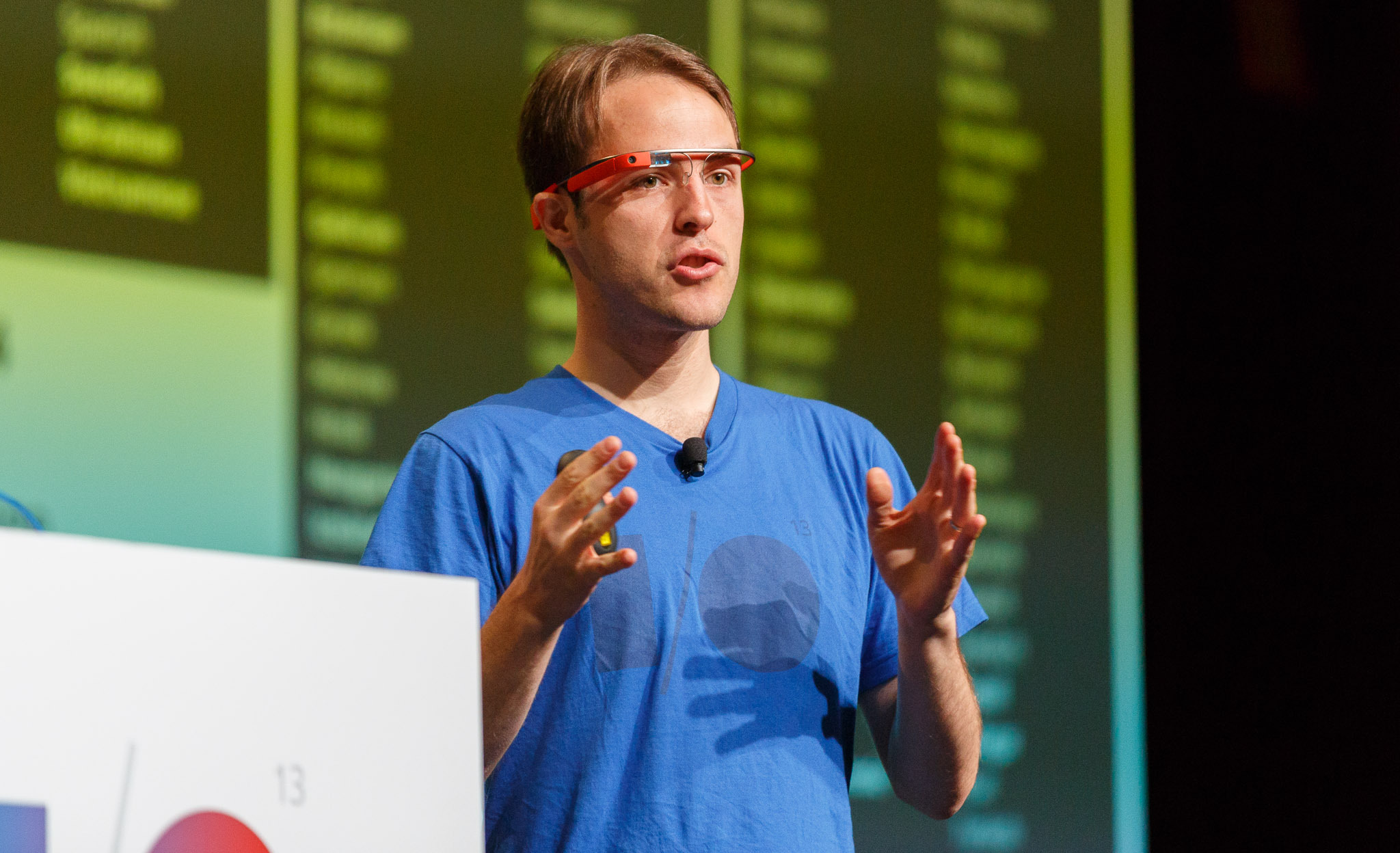 Josh Estelle, a Google Translate engineering leader, speaks at Google I/O 2013.