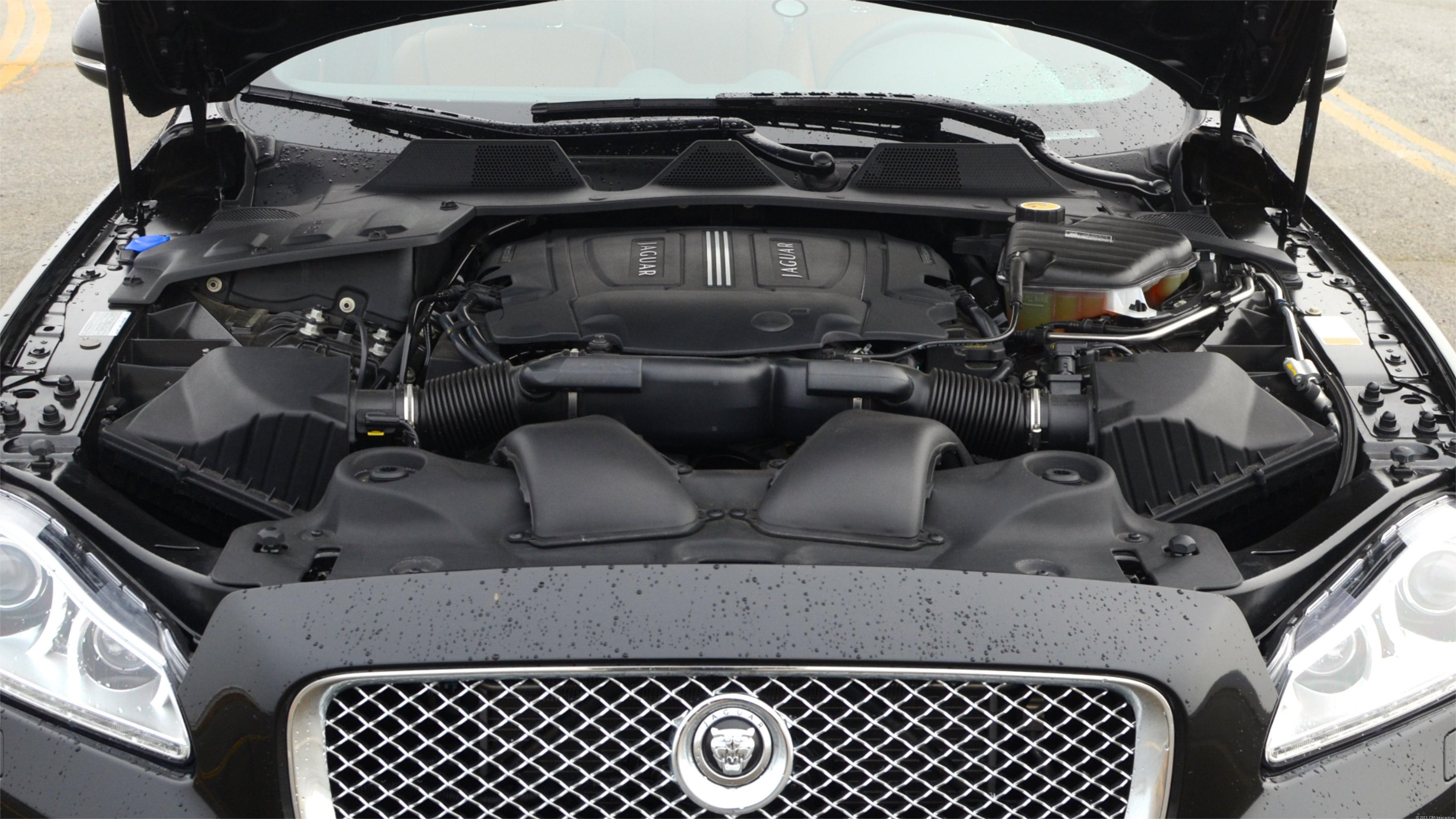 Jaguar XJ engine bay