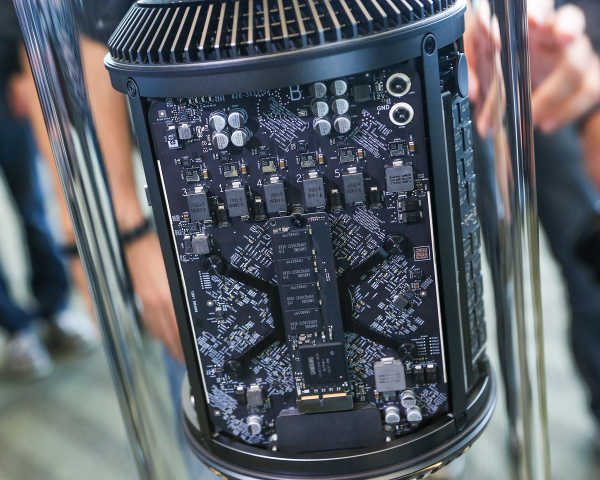 Apple's redesigned Mac Pro, coming later this year.