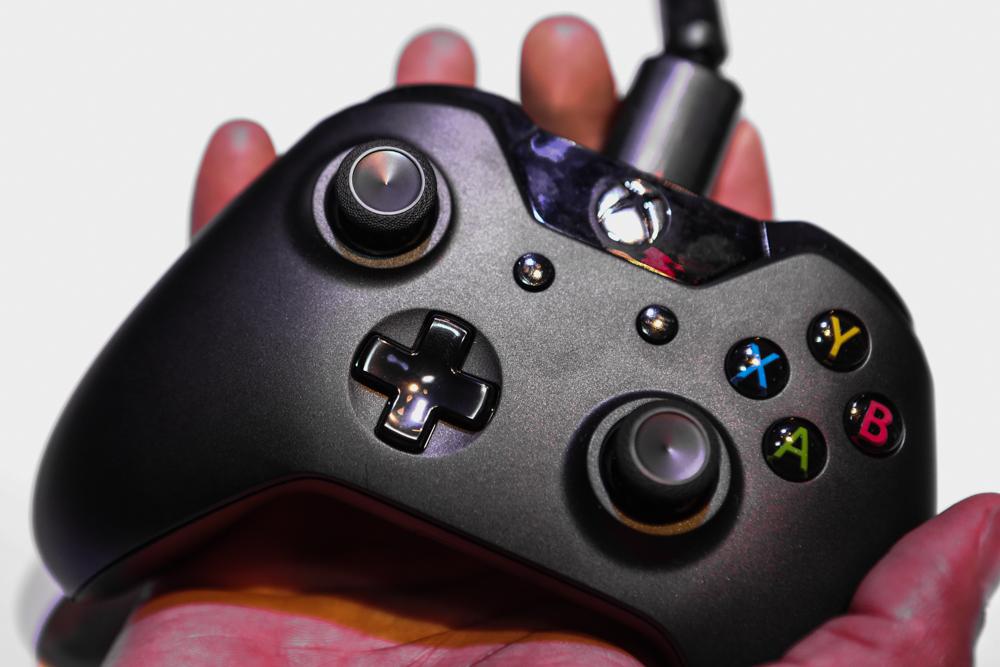 The Xbox controller up close