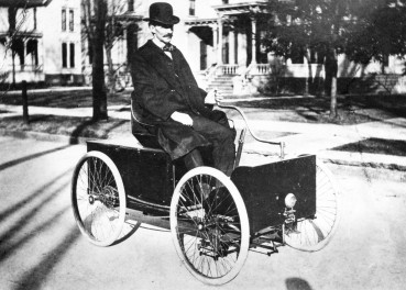 Henry Ford builds his first car.