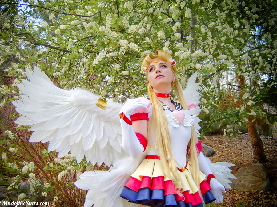 Seamstress Mel Hoppe as Sailor Moon