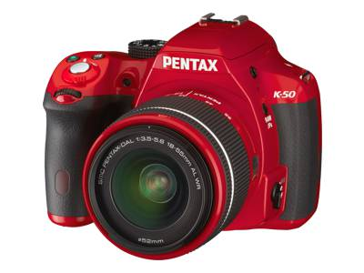 Pentax K-50 (with 18-55mm WR Lens, Red)