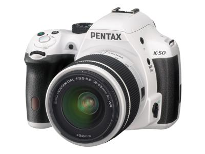 Pentax K-50 (with 18-55mm WR Lens, White)