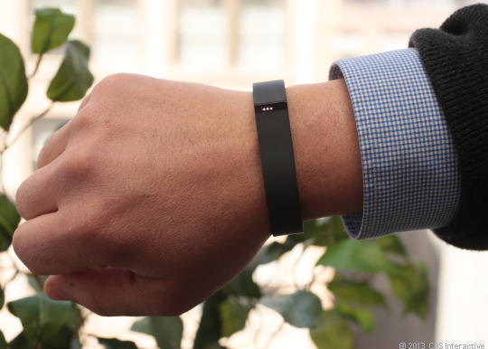For $99.95, the Fitbit Flex tracks steps, sleep, and calories you burn. It syncs via wireless Bluetooth connection to iPhones and Samsung Galaxy smartphones as well.