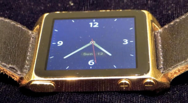 DIY gold iPod watch