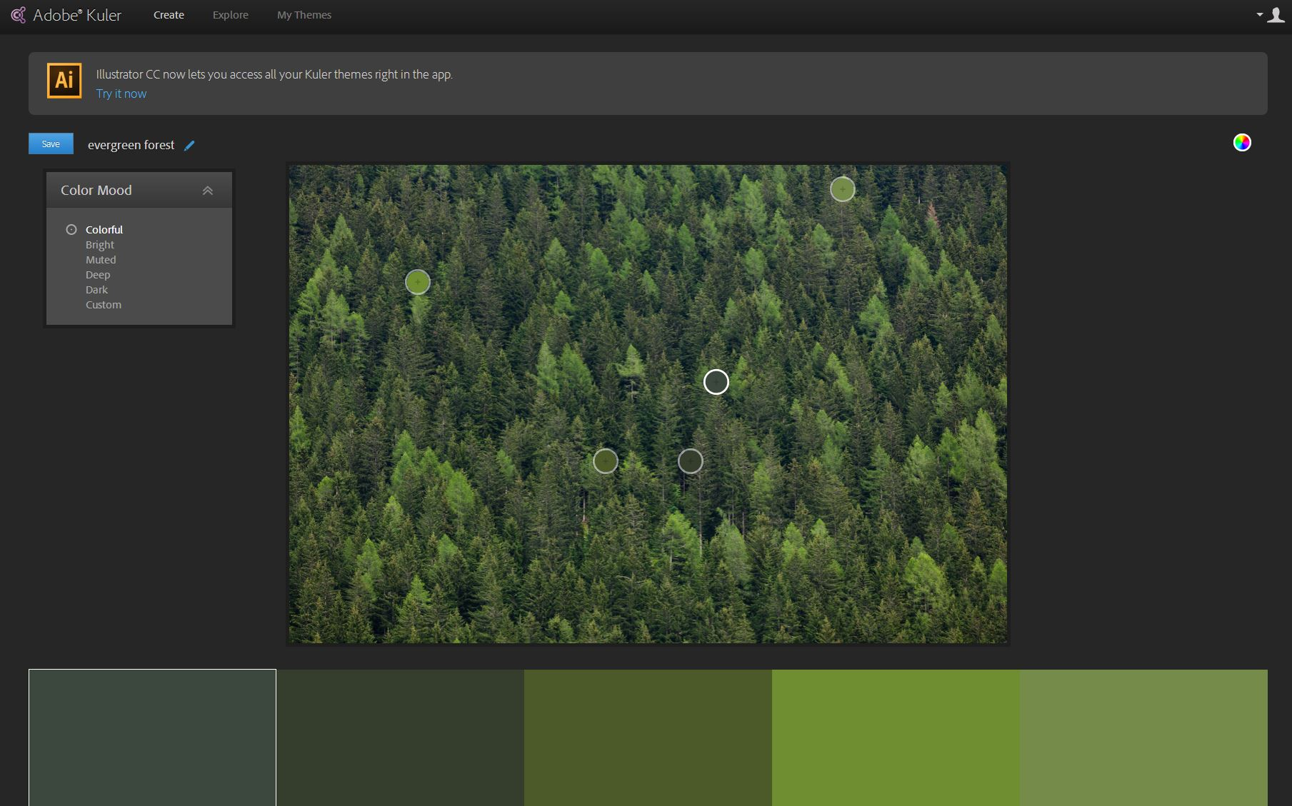 Adobe's Kuler tool can pick colors that come are likely to be found together in nature.