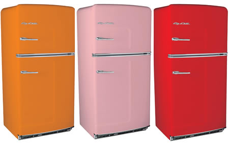 Rainbow of fridges
