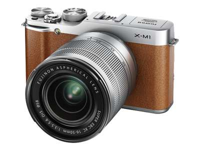 Fujifilm X-M1 (with 16-50mm lens, Brown)