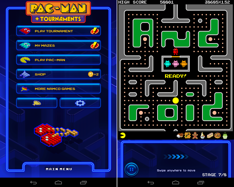 Pac-Man Android tournament
