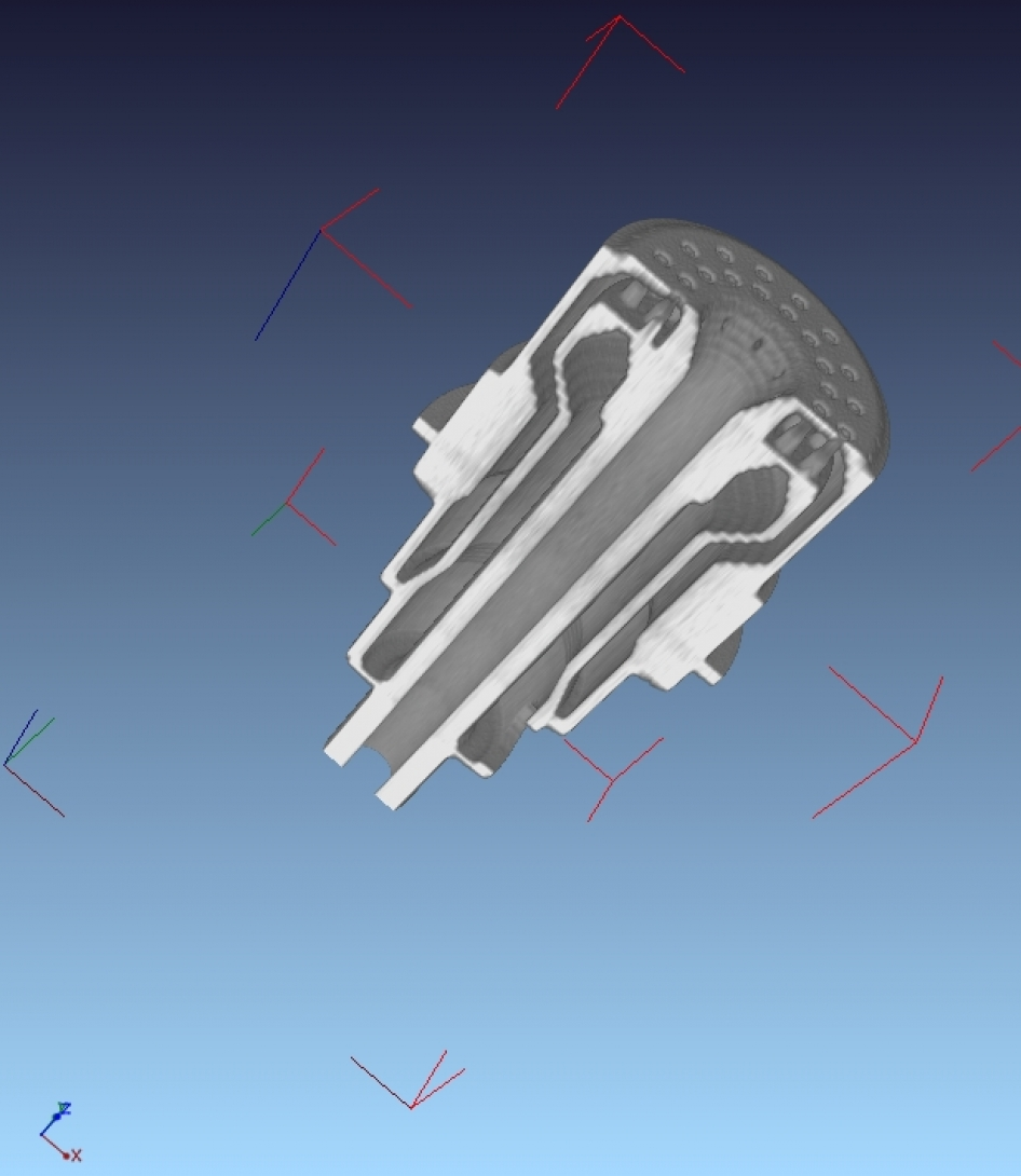 CT scan of 3D printed part