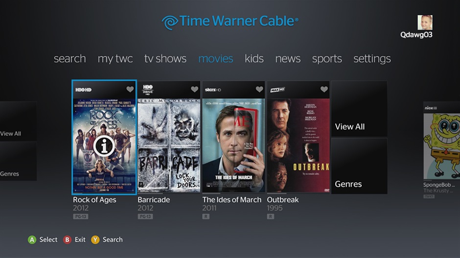 The Time Warner Cable app is now live on Xbox 360.