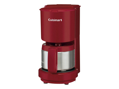 Cuisinart 4-Cup Coffeemaker with Stainless-Steel Carafe (Red)