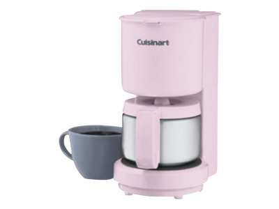 Cuisinart 4-Cup Coffeemaker with Stainless-Steel Carafe (Pink)